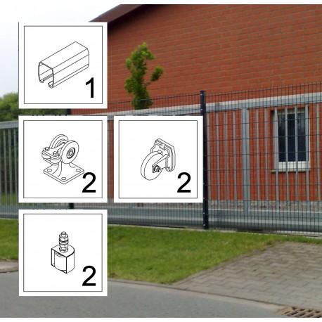 FST075 LD bis 3,5 m ECO Kit Schiebetor Beschlag freitragend