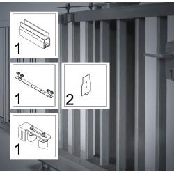 FST083A bis 4,5 m, ECO-Kit, Schiebetor Aluminium Beschlag, freitragend