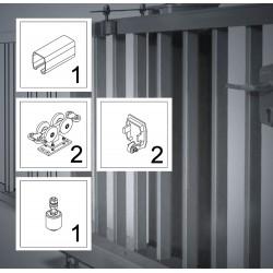FST150A bis 7 m, ECO-Kit, Schiebetor Aluminium Beschlag, freitragend