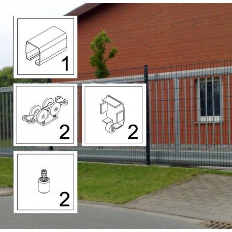 FST075 LD bis 4,5 m ECO Kit Schiebetor Beschlag freitragend