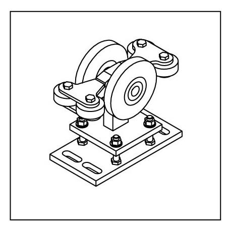 Laufrollenbock LRB160-4QG höhenverstellbar