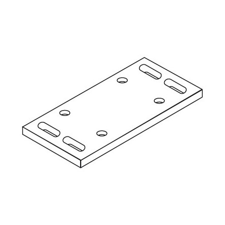 Höhenverstellbare Grundplatte Laufrollenbock LRB130/S