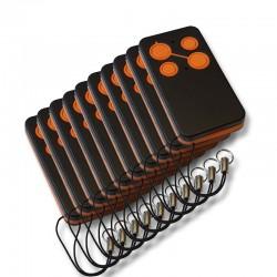 10-er Pack Handsender HPM433, 4-Kanal, 433 Mhz TX-Cloner