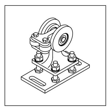 Laufrollenbock FST075 höhenverstellbar