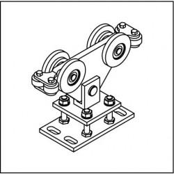 Laufrollenbock LRB160/S-4QG höhenverstellbar