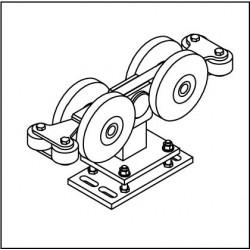 Laufrollenbock LRB192/SL-4QG höhenverstellbar