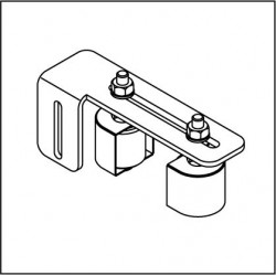 Obere Führungsrollenbügel FRBK083A mit 2 Polyamidrollen