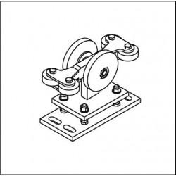 Laufrollenbock LRB130-4QG, höhenverstellbar
