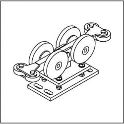 Laufrollenbock LRB130/S, höhenverstellbar