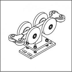 Laufrollenbock LRB150A-4QG höhenverstellbar
